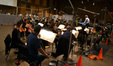 Conductor Michael Kosarin with the orchestra on <i>Galavant</i>