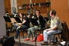 The French horns: Allen Fogle, Laura Brenes, and Jim Thatcher