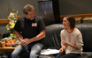 Scoring mixer Frank Wolf and composer assistant Brittany DuBay