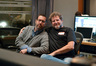 Score composer Christopher Lennertz with scoring mixer Frank Wolf