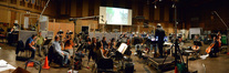 Conductor Michael Kosarin and the orchestra perform on <i>Galavant</i>