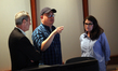 President of Pixar, Jim Morris, director Peter Sohn, and producer Denise Ream