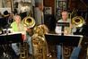 John Van Houten and Norman Pearson perform on cimbassos