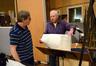 Percussionist Danny Greco prepares the next cue