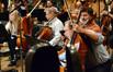 Principal cellist Steve Erdody makes a change to his part