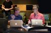 Music editors Jeff Carson and Chuck Martin