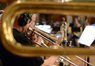 A view through a cimbasso of the trombones