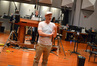 Composer Tom Holkenborg (Junkie XL) talks with the brass