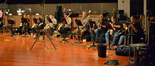 The trombones: Charlie Morrillas, Alex Iles, Bob McChesney, Steve Trapani, Phil Keen, Steve Holtman, Craig Gosnell, and Bill Reichenbach