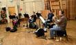 The French horns: Jenny Kim, Dan Kelley, Steve Becknell, and Mark Adams