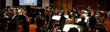 Composer John Debney conducts an 85-piece orchestra on <i>The SpongeBob Movie: Sponge Out of Water</i>