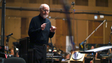 John Williams conducts his score to <i>Star Wars: The Force Awakens</i>