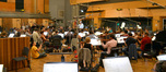The orchestra records a cue from Joel McNeely's <i>Tinker Bell and the Legend of the NeverBeast</i> under conductor Mike Nowak