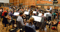 Conductor Mike Nowak and the orchestra record a cue from Joel McNeely's <i>Tinker Bell and the Legend of the NeverBeast</i>