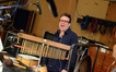 Percussionist Bernie Dresel enjoys the session