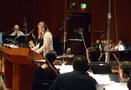 Composer/conductor Alison Plante talks to the violins