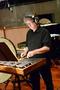 Percussionist Brian Kilgore performs on the glockenspiel