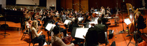 Composer/conductor Alison Plante records her concert work <i>Trimountaine</i> with a 47-piece orchestra