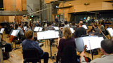 Eímear Noone conducts the Hollywood Studio Symphony strings
