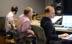 Assistant engineer Wil Ansprach, scoring mixer Chris Fogel, and ProTools recordist Kevin Globerman