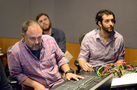 Scoring mixer Chris Fogel, assistant Joe Shirley, and assistant engineer Wil Anspach