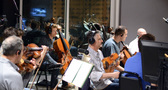 The orchestra records a cue for <i>Central Intelligence</i>, composed by Ludwig Göransson and Theodore Shapiro