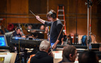 Composer/conductor Thomas Newman records with the Hollywood Studio Symphony