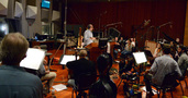 The orchestra performs under the baton of conductor Michael Kosarin