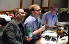 Composer Chris Lennertz, Alex Menken's music assistant Aaron Kenny, and music editor Christopher Brooks