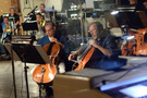 Cellists Dennis Karmazyn and Steve Erdody perform on the score for <i>Galavant: Season 2</i>