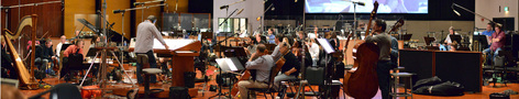 The orchestra performs with conductor Michael Kosarin