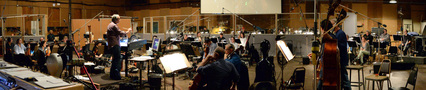 Conductor Michael Kosarin and the orchestra perform on <i>Galavant: Season 2</i>