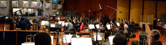 The Hollywood Studio Symphony performs with conductor Michael Kosarin