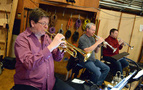 The trumpet section