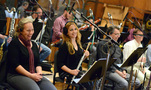 The woodwinds enjoy the session