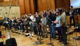 The choir performs