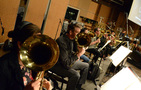 The French horns perform on Wagner tubas
