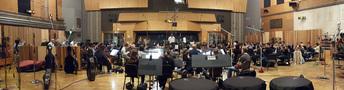 The Hollywood Studio Symphony strings perform on <em>The Magnificent Seven</em>