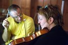 Carlo Siliotto with featured viola soloist, Elizabeth Wilson