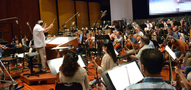 Conductor Don Harper performs with the Hollywood Studio Symphony