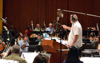 Don Harper conducts the orchestra on a cue from <i>Moana</i>