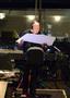 Composer/conductor Trevor Morris checks over a cue