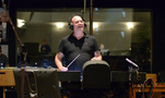 Composer/conductor Trevor Morris enjoys hearing his score come to life with the playback