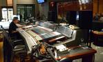 Recording mixer Jim Hill runs the console