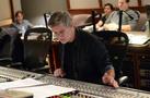 Recording mixer Jim Hill follows along in the score