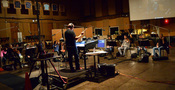 Composer/conductor Trevor Morris and the orchestra record <i>Of Kings and Prophets</i>