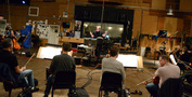 Composer/conductor Trevor Morris with the strings