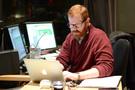Score mixer Phil McGowan makes some notes