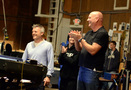 <i>Of Kings and Prophets</i> co-creator Bill Collage and composer/conductor Trevor Morris thank the orchestra