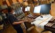 Percussionist Brian Kilgore performs on marimba